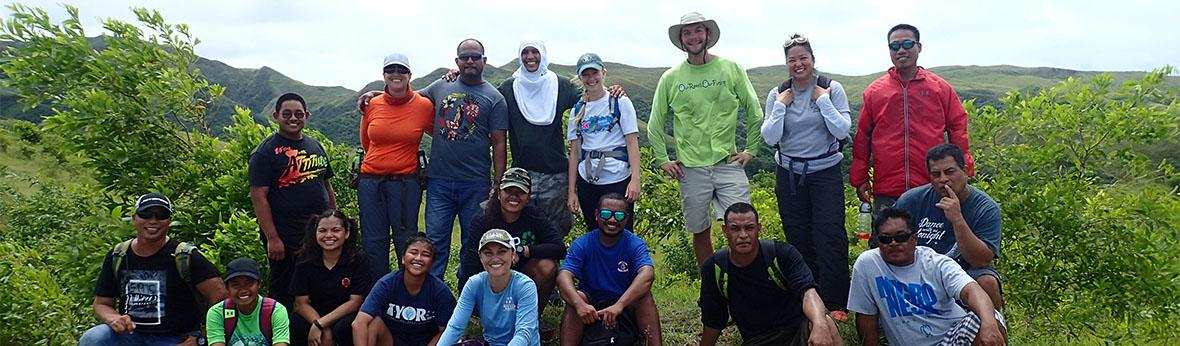 Island forest ecology participants