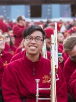 Profile photo of Calvin in the marching band