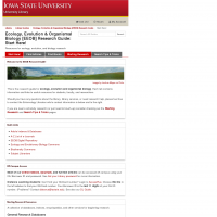 EEOB Research Guide - Library Guides at Iowa State University