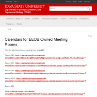 Calendars for EEOB Owned Meeting Rooms